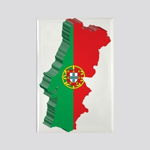 PortugalMap2 Rectangle Magnet